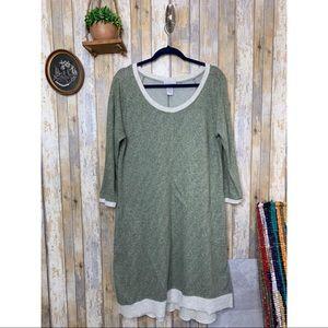 Soft Surroundings Green Sweatshirt Dress